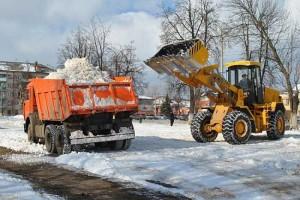 вывоз снега в компании